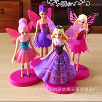 beautiful mantles - Tinkerbell flower fairy superior quality mini figures toys with beautiful mantle rainbow horses for kids girl gift Twilight Sparkle