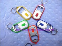 Wholesale Fast DHL LED in Beer Bottle Opener LED Light Lamp Key Chain Ring Keychain Key ring With Packing