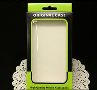 Wholesale IN STOCK Original Case paper retail Package Cell Phone Cases cover Packaging For iPhone S s Green Paper Box