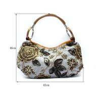 Cheap Free Shipping HOT Embroidery evening bags , Flower Bag Purse , Designer Slap-up Gentle full Party handbag Wedding Clutch 7 color 0598