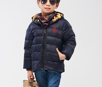 Wholesale New season sale children down jacket duck down filling hooded short down jacket