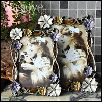Wholesale European style D follower metal photo frame creative painting gift Retro elegant frame Image for home decoration