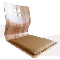 wood furniture - Japanese Chair Legless Tatami Floor Seating Living Room Furniture Chair Design Tatami Zaisu Legless Floor Chair Leather Cushion Seat