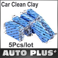 Cheap 5Pcs lot Car Cleaning Tool Magic Car Clean Clay Bar Auto Detailing Cleaner Washing Sludge Mud Remove Free Shipping Wholesale