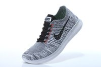 on and off - 50 OFF On Sale Nike Flyknit Free Run Mens Running Good Quanlity Cheap Grey Black Colors Roshe Run Flyknit Sneakers