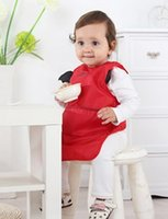 baby blue imports - Solid color long style baby bibs made of imported water proofing fabric easy clean quick dry