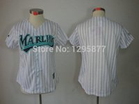 Baseball Women Short 30 Teams- fashion Personalized custom made baseball jerseys Florida Marlins customized Your Name Number mix order ,embroidered logos
