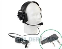 Wholesale Z Tactical TAC IV Noise Reduction Headset with U94 Kenwood Version Pins PTT Tan and black order lt no track