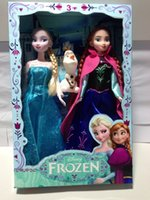 Wholesale Heigh cm Froze Children s Day Gift Movable Dolls Cartoon Elsa Anna Olaf Plastic Kids Toys Christmas Present Doll Snow Queen H2078