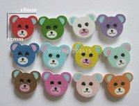 achat en gros de boutons de scrapbooking bébé-WB0018 gros bébé vêtements bois boutons d'ours 15mm * 18mm 3000pcs boutons mixtes pour accessoires artisanat scrapbooking