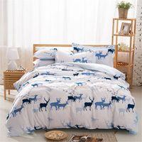 Cheap Hot Seller Deer And Bird Comforter White Bed Sheets Designer Bedding Queen Size