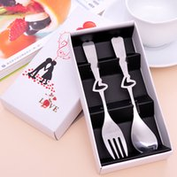best dinnerware sets - Best for lovers gift New arrival stainless steel spoon fork Dinnerware Sets with box per set