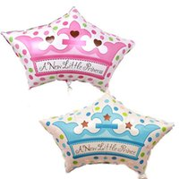 beautiful release - New Released Baby Princess Price Birthday Party Decorations Inflatable Helium Aluminum Beautiful Crown Shaped Foil Balloons
