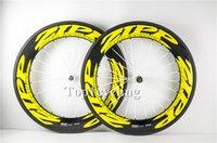 Wholesale Yellow carbon wheels road bike ZIPP mm carbon road wheels c carbon wheels clincher tubular road bicycle wheels fit carbon frame