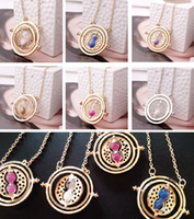 harry potter - European and American popular harry potter necklace necklace time converter harry potter hermione granger rotating time turner necklace