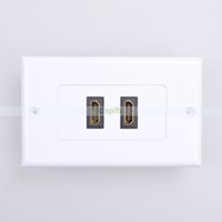 Wholesale 2 Ports HDMI Dual HDMI Convertor Panel Wall Plate