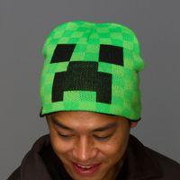 Wholesale Minecraft hat winter beanies Crochet Knit Hats caps kids crochet hat autumn winter caps for Children Men Women