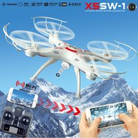 Wholesale NEW SYMA X5SW X5SW FPV WIFI RC Drone Quadcopter With Camera Original X5C Upgrade MP GHZ Axis Real Time Toys DHL