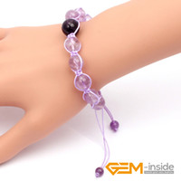 aquarius stone - 8mm mm light color amethyst bracelet natural stone bracelet Lucky stone for Aquarius Gemini Leo Scorpio
