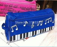 Fabric Pencil Bag Yes Free Shipping Creative stationery student music note pencil case piano note pencil box Cosmetic Bag wholesale