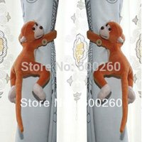 Wholesale Window Curtain Tieback Belt Hook Long tail Monkey Curtain Buckle Accessory Belt furniture And Home Decor