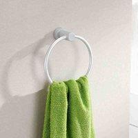 Wholesale Portable Round Aluminum Towel Holder Rings Wall Mounted Bathroom Towel Racks New