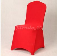 Cheap 50pcs CCA3325 High Quality Spandex Chair Covers 8 Colors Customized Banquet Chair Covers For Wedding Decors Home High Elastic Chair Cover