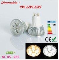 Wholesale 1X Super Bright W W W GU10 MR16 E27 LED Bulbs Light V V Dimmable Led Spotlights Warm Natural Cool White GU LED downlight