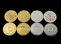 Wholesale silver gold plated Mayan Coin Mayan Prophecy Commemorative Coin Aztec calendar coin Maya metal crafts