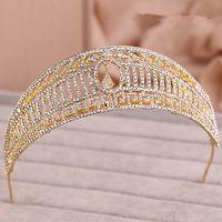 bridal hair ornament - 2015 New Fashion Vintage Wedding Bridal Crystal Rhinestone Diamond Headband Beaded Hair Accessories Ornament Princess Tiara Jewelry Set