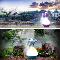 Wholesale Multifunctional home air humidifier freshener can make negative oxygen ion and home aroma spa night light home humidifiers on sale