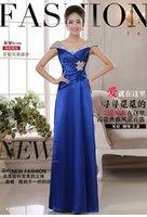 Wholesale 2015 NEW ARRIVAL ELEGANT LONG DESIGN DOUBLE SHOULDER EVENING GOWN EVENING DRESS