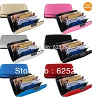 Wholesale Credit card wallet cases Aluma wallet tv credit card bag business card box cardfile aluminium material