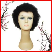 Wholesale Cool Charming Afro Kinky Wig Free Shiiping Cheap Short Black Kinky Curly Wigs Perfect Hair Wigs