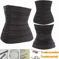 Wholesale New Sexy Waist Training Corsets Bustiers High Elastic Buckles Underbust Vest Lingerie Waist Cincher Body Shaper Underwear