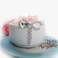 Wedding Napkin Rings - 10 Diamond Rhinestones Bow knot Napkin Ring Wedding Party Serviette Table Decor CJH ZHD