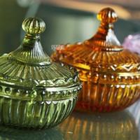 beauty glass jar - Hot Baroque vintage ZAKKA coloured glass cup mug Murano design fashion beauty originality Jar Pot carving Container Britannia XM