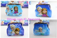 Wholesale Lowest Price new arrive styles girls wallet ice and snow elsa anna printed cartoon children change pocket kids coin purse girl handbag