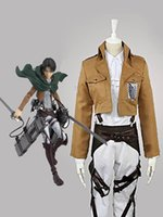 Wholesale Attack On Titan Levi Ackerman the Recon Corps Cosplay costume Tailor Made