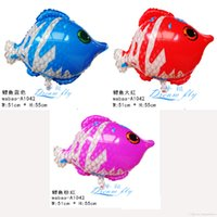 Cheap Free shipping hot sell little carp shape cartoon design foil balloon party decoration balloon small children toy wholesales