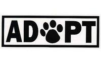adoption cats - Drop shipping quot ADOPT quot DOG CAT ANIMAL ADOPTION PAW PRINT VINYL DECAL CAR WINDOW CAR STICKER