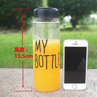 Wholesale My Bottle Sport Water Bottle cute Ml High Quality Plastic Lemon Juice readily Cup Space Cup