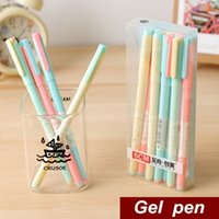 Wholesale 12 Candy body Gel pen New Black ink mm High quality pen caneta stationary office material school supplies