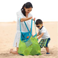 big bag sand - Prettybaby Sand Away Baby Beach Shell Storage Bag big size colors children carry treasures Toys mesh Pouch Tote bags Pt0260