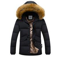 men winter parka - Duck Down New Fashion Winter Coats Men Casual Fur Hooded Men s Jackets Breathable Solid Coat Men Windproof Parka Male Z3000