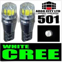 al por mayor 2pcs hid xenon-2 piezas de 501 T10 CANBUS Cree bombillas LED blanco del xenón T10 5W error Laterales del coche libre al por mayor que labra