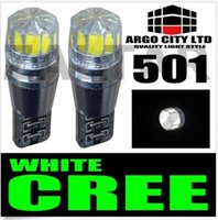 Wholesale 2PCS T10 CANBUS Cree Bulbs LED Xenon White T10 W Error Free Car Sidelights styling