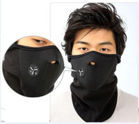 balaclava windproof - New Thermal Neck warmers Fleece Balaclavas CS Hat Headgear Winter Skiing Ear Windproof Warm Face Mask Motorcycle Bicycle Scarf