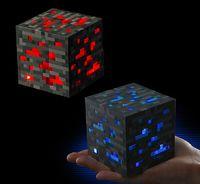 Wholesale Minecraft LED Night Lights Minecraft Creeper Diamond Ore Redstone Bluestone Ore Square Levels Lights Night Lamp with Retail Box