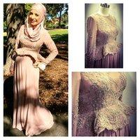 Cheap Muslim Evening Dresses Best Long Sleeves
